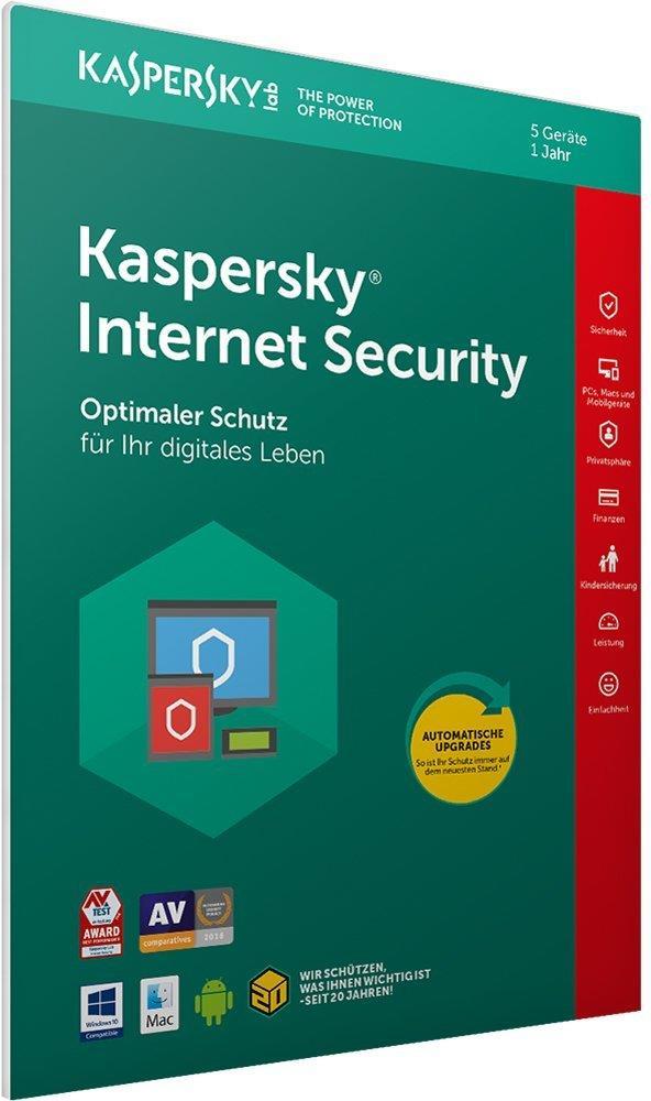 Kaspersky Lab Internet Security 5Benutzer 1Jahr...