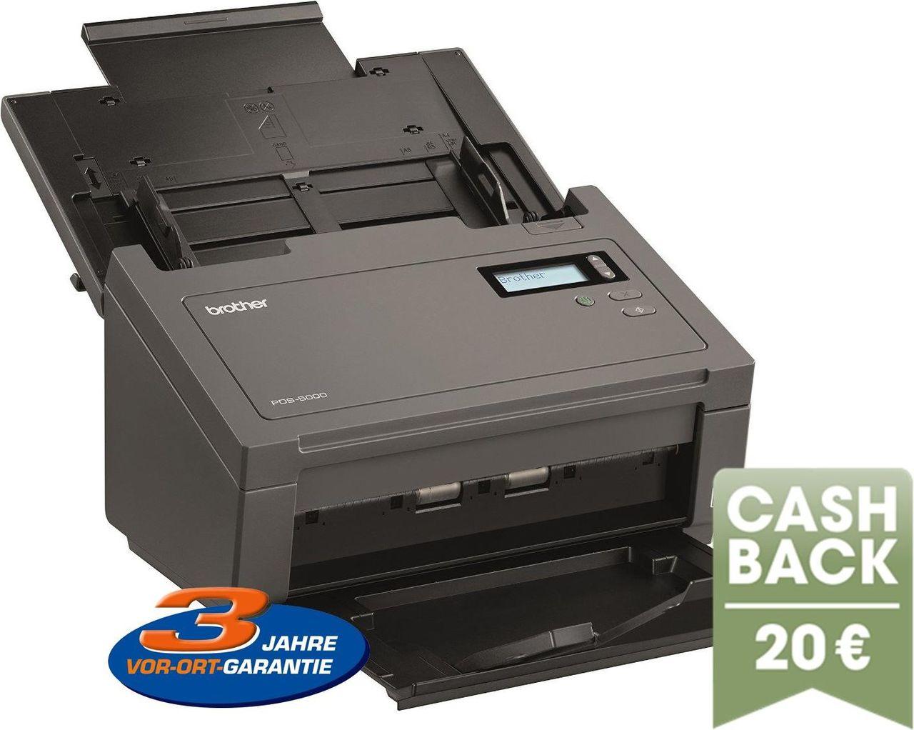 Brother PDS5000 Dokumentenscanner schwarz//wei/ß