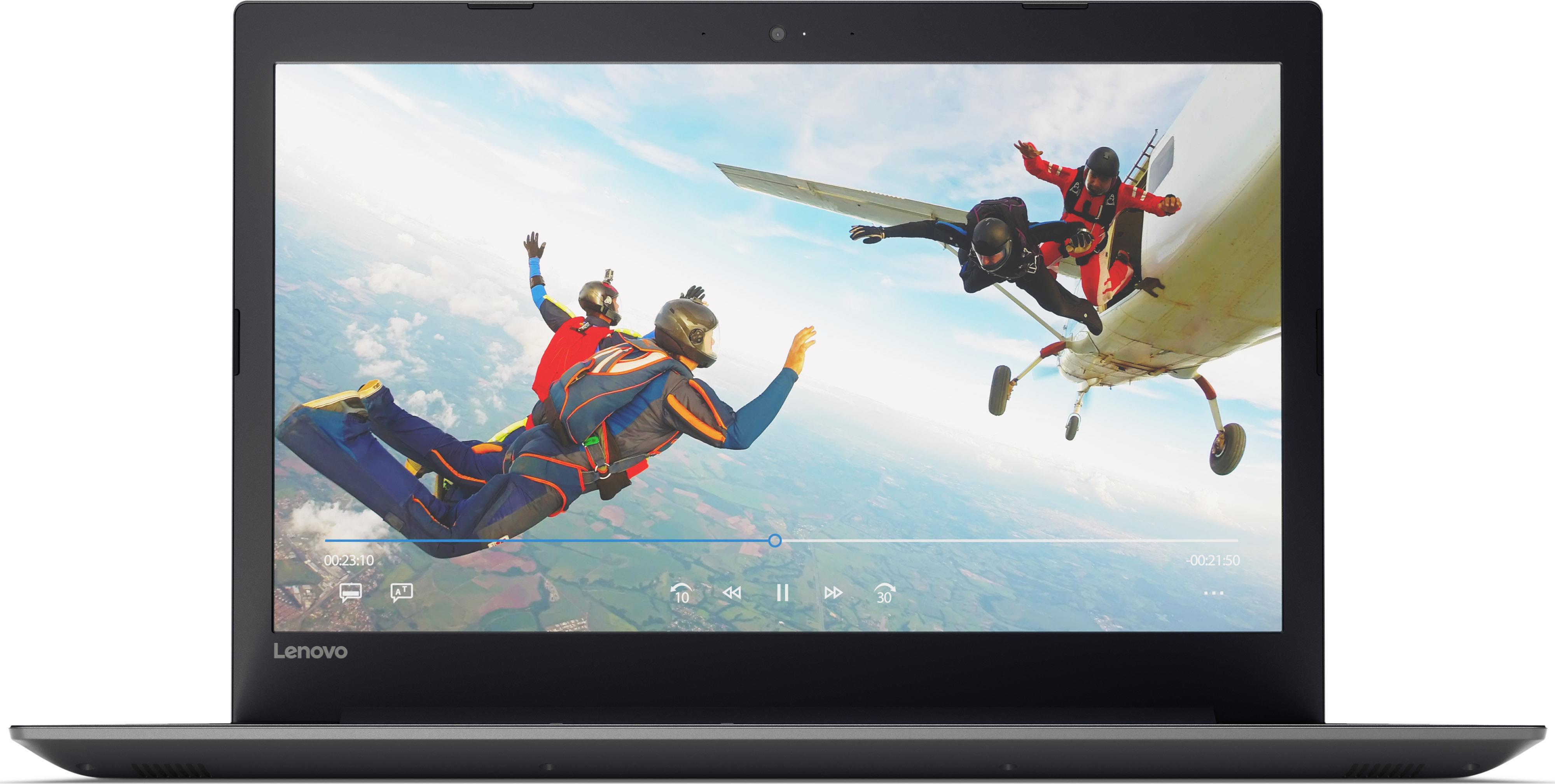 Notebooks, Laptops - Lenovo 320 17AST 80XW A9 9420 3 GHz Win 10 Home 64 Bit 8 GB RAM 256 GB SSD DVD Writer 43.9 cm (17.3) TN 1600 x 900 (HD ) Radeon R5 Wi Fi, Bluetooth Onyx Black  - Onlineshop JACOB Elektronik