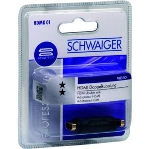 Schwaiger HDMK01 533 - HDMI - HDMI - Weiblich/weiblich - Gold - Schwarz (HDMK01533)