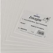 CANSON Zeichenpapier Imagine, 500 x 650 mm, 200 g/qm, weiß leicht gekörnt, für viele Techniken: Aquarell, Acryl, - 10 Stück (C400038746)