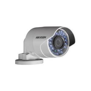 Hikvision IR Mini Bullet Camera DS-2CD2020F-I - Netzwerk-Überwachungskamera - Außenbereich - wetterfest - Farbe (Tag&Nacht) - 2 MP - 1920 x 1080 - M12-Anschluss - feste Brennweite - LAN 10/100 - MJPEG, H.264 - Gleichstrom 12 V / PoE (DS-2CD2020F-I(4MM))