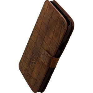 LUCKYFINISH Book Case für Samsung G900 Galaxy S5 GREZY Tobacco (14319) - broschei