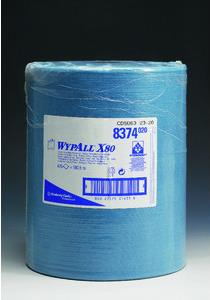 WYPALL* Wischtuch X80, 1lg., Großrolle, 475 Tücher, 31,5x34cm, blau Stück (8374) jetztbilligerkaufen