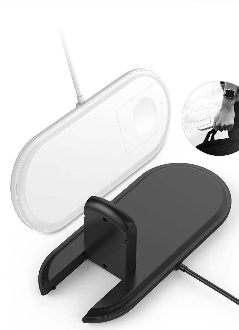 Cyoo - 2in1 Wireless Lade Pad - Weiß - Ladegerät - QI Standard