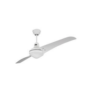 CasaFan Deckenventilator Mirage (Ø) 142 Cm Flügelfarbe: Weiß Gehäusefarbe:  Chrom (gebürstet) (931322