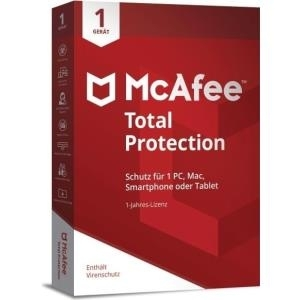 McAfee/Avanquest McAfee Total Protection 1 Device (Code in a Box) - Vollversion - Deutsch - 12 Monate - 1 User (MF-70692)