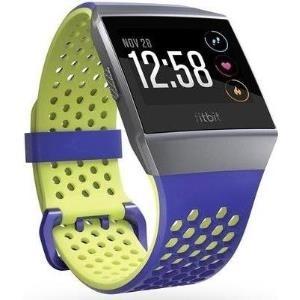 Fitbit Sport Band - Uhrarmband - Groß - Cobalt & Lime - für Fitbit Ionic