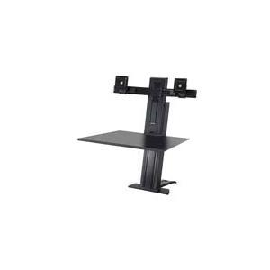 Ergotron WorkFit-SR Dual Sit-Stand Workstation - Aufstellung (Spannbefestigung für Tisch, Arbeitsoberfläche, Spalte, 2 Drehgelenke, Querstange, Kabelwindungen) LCD-Displays/Tastatur/Maus Aluminium Schwarz Bildschirmgröße: bis zu 61cm jetztbilligerkaufen