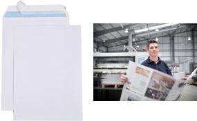 GPV Versandtaschen Premier B4, 250 x 353 mm, weiß Gewicht: 100 g, mit Silikonstreifen, ohne Fenster - 1 Stück (4285)