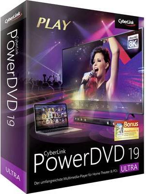 Cyberlink PowerDVD 19 Ultra Vollversion, 1 Lizenz Windows Videobearbeitung (1033067)