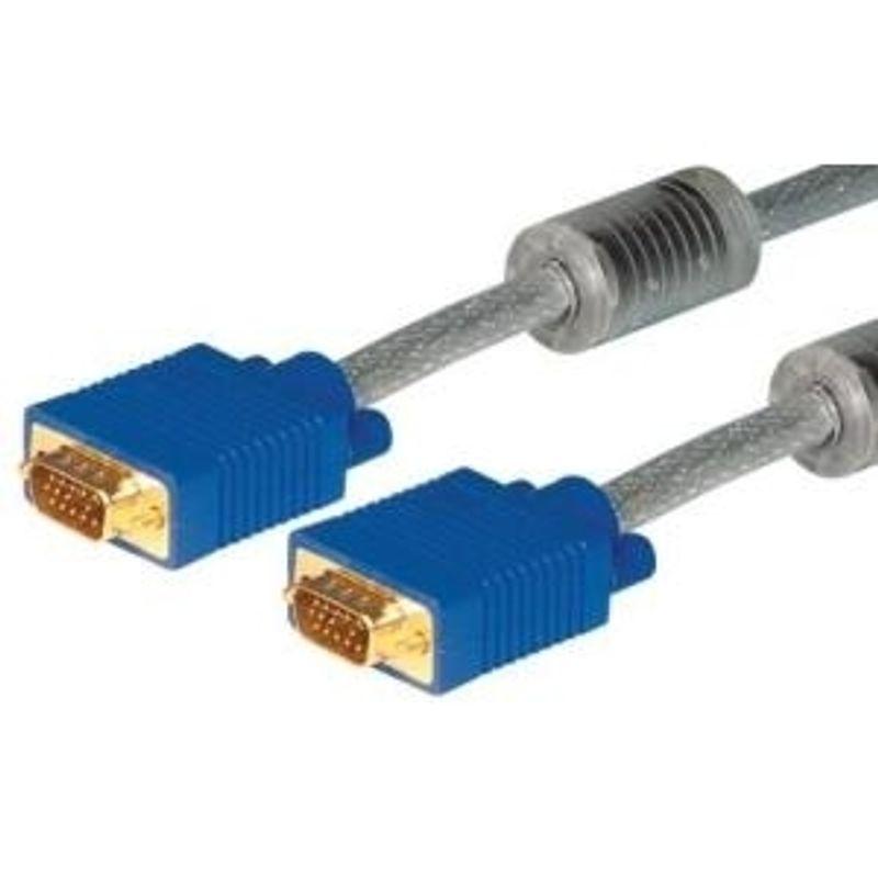 LogiLink VGA Monitor Verl/ängerungskabel 15m HD DSUB 15-pin m/ännlich//weiblich, 2-fache Abschirmung, Ferritkern schwarz