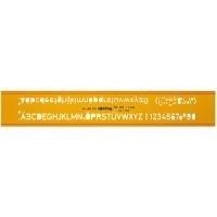 rotring Schriftschablone 5,0 mm Schrifthöhe mit...
