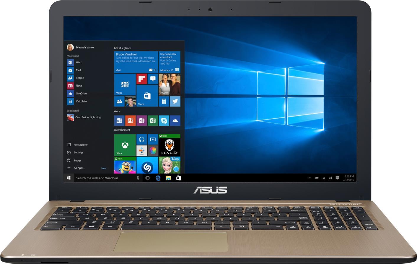 Notebooks, Laptops - ASUS F540NA DM133T 1.1GHz N4200 Intel® Pentium® 15.6' 1920 x 1080Pixel Schwarz Schokolade Notebook (90NB0HG1 M02440)  - Onlineshop JACOB Elektronik