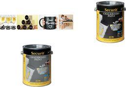 Securit Tafellack PAINT, grau, 2,5 Liter wasserbasierende Acryl-Tafelfarbe, zum Erstellen von Kreide - 1 Stück (PNT-GY-LA)