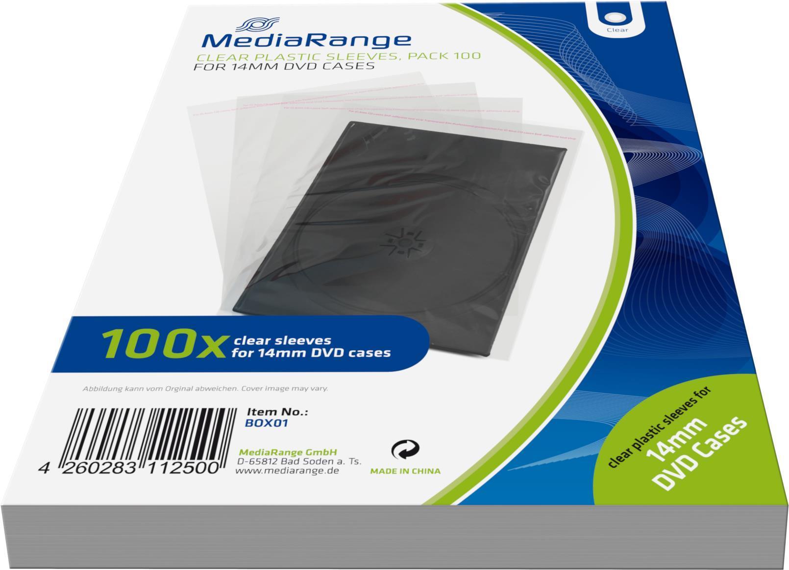 MediaRange Zubehör CD-/DVD-Rohlinge Notebook-Hülle 1Disks Transparent (BOX01)