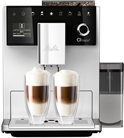 Kaffee, Tee - Melitta CI Touch. Bauform Freistehend, Produkttyp Espressomaschine. Fassungsvermögen Wassertank 1,8 l, Kaffee Einfüllart Kaffeebohnen, Eingebautes Mahlwerk. Display Typ TFT. Leistung 1400 W. Produktfarbe Schwarz, Silber (6761410)  - Onlineshop JACOB Elektronik