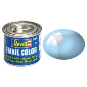 Revell Blau - klar 14 ml-Dose Farbe Kunstharz Emaillelackierung Zinn (32752)