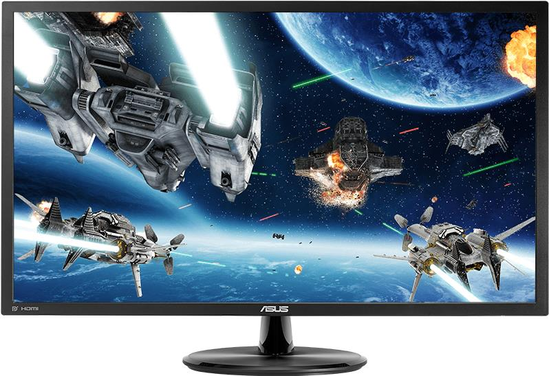 ASUS VP28UQG - LED-Monitor - 71.1 cm (28) - 3840 x 2160 4K - 300 cd/m² - 1000:1 - 1 ms - 2xHDMI, DisplayPort - Schwarz
