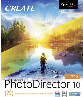 Cyberlink Vollversion, 1 Lizenz Windows, Mac Bildbearbeitung (PhotoDirector 10 Ultra)