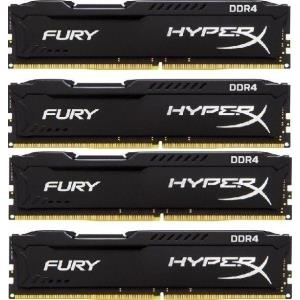Arbeitsspeicher - HyperX FURY DDR4 64 GB 4 x 16 GB DIMM 288 PIN 2666 MHz PC4 21300 CL16 1.2 V ungepuffert nicht ECC Schwarz (HX426C16FBK4 64)  - Onlineshop JACOB Elektronik