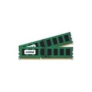 Crucial - DDR3 - 16 GB : 2 x 8 GB - DIMM 240-PIN - 1600 MHz / PC3-12800 - CL11 - 1.35 V - ungepuffert - nicht-ECC (CT2K102464BD160B)