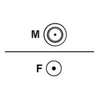 Intermec - Antennenadapter - RP-TNC (M) - SMA (W) - für Intermec IF30, IF61 Enterprise, IntelliTag IF4, IntelliTag IV7 (592074-001)