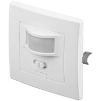 Sicherheit - Wentronic Goobay Infrarot Bewegungsmelder, Weiß zur Unterputz Wandmontage, 160 ° Erfassung, 9 m Reichweite, für Innen (IP20), LED geeignet (96005)  - Onlineshop JACOB Elektronik