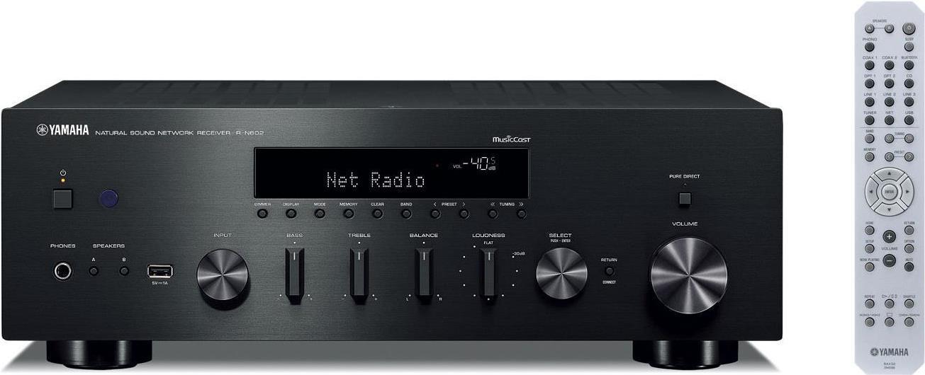 Verstärker, Receiver - Yamaha R N602 80W 2.0Kanäle Stereo Schwarz AV Receiver (RN 602B)  - Onlineshop JACOB Elektronik