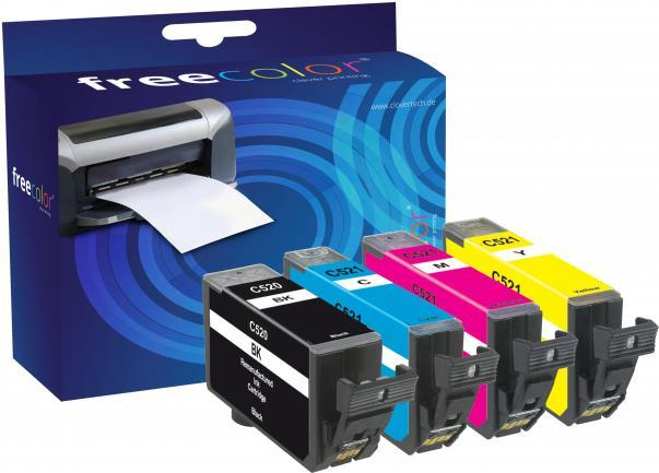 FREECOLOR - Ink - Canon Pixma IP 3600 MultiPack Canon Pixma IP 3600,Canon Pixma IP 4600,Canon Pixma IP 4600 X,Canon Pixma IP 4700,Canon Pixma MP 540,Canon Pixma MP 550,Canon Pixma MP 560,Canon Pixma MP 620,Canon Pixma MP 630,Canon Pixma MP 640,Canon Pixma MP 640 R,Canon Pixma MP 980,Canon Pixma MP 990 (CACLI521-INK4-FRC)