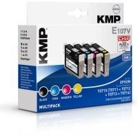 KMP E107V - Tintenpatronen - Multipack - kompatibel Epson T0715 (1607,4005)