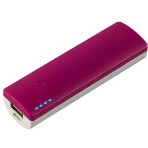 PNY PowerPack Curve 2600 - Ladegerät Li-Pol 2600 mAh - 1 A (USB) - auf Kabel: Micro-USB - Violett (P-B2600-1CURWV-RB)