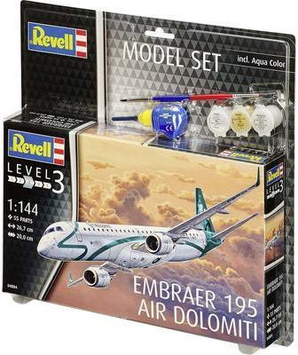 Revell Model Set Embraer 195 Air Dolomiti 1:144...