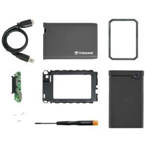 Transcend StoreJet 2.5 - Speichergehäuse - 6,4 cm (2.5) - SATA 6Gb/s - 600MBps - USB3.0 (TS0GSJ25CK3)