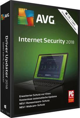 AVG Internet Secrurity 2018 Vollversion, 1 Lize...