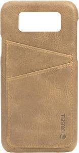 Taschen, Hüllen - Krusell Sunne 2 Card Cover Hintere Abdeckung für Mobiltelefon Echtes Vintage Leder Nude für Samsung Galaxy S9  - Onlineshop JACOB Elektronik