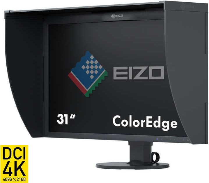 EIZO ColorEdge CG318-4K - LED-Monitor - 79cm (31.1) - 4096 x 2160 4k DCI - IPS - 350 cd/m2 - 1500:1 - 9 ms - 2xHDMI, 2xDisplayPort - Schwarz (CG318-4K)
