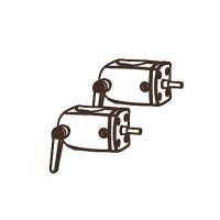 Ergotron DS100 Series - Montagekomponente (Befestigung für Stange) - Schwarz (Packung mit 2) (60-443-200)