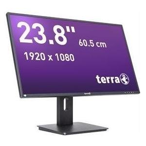Terra Wortmann TERRA 2456W PV - GREENLINE PLUS - LED-Monitor - 60.5 cm (23.8) - 1920 x 1080 Full HD (1080p) - ADS-IPS - 250 cd/m² - 5 ms - HDMI, DVI-D, DisplayPort - Lautsprecher - mattschwarz (3030008)