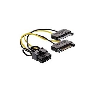 INLINE - Netzteil - PCI-Express-Stromversorgung, 8-polig (M) bis 15 PIN SATA Power - 15 cm
