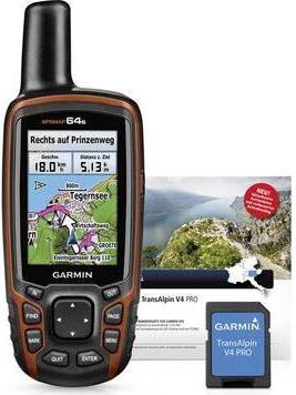 Navigationsgeräte - Garmin GPSMAP 64s Handgeführt 2.6' TFT 260.1g Schwarz Rot Navigationssystem (GPSMap 64s TOPO Deutschland V8 Pro)  - Onlineshop JACOB Elektronik