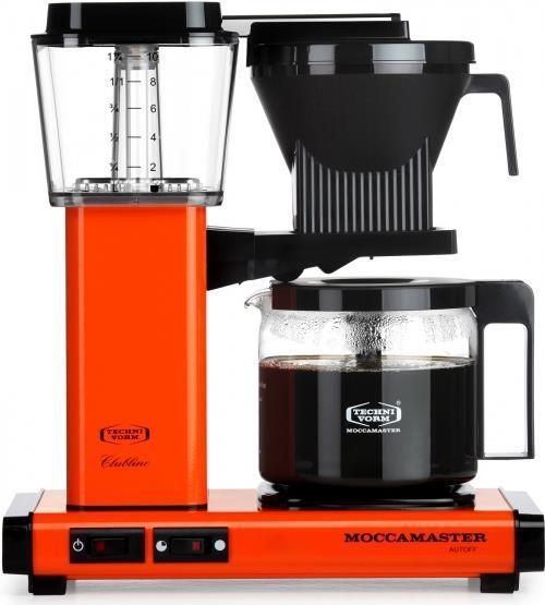 Kaffee, Tee - Moccamaster KBG 741 AO. Bauform Freistehend, Produkttyp Filterkaffeemaschine. Fassungsvermögen Wassertank 1,25 l, Kapazität (in Tassen) 10 Tassen, Kaffee Einfüllart Gemahlener Kaffee. Leistung 1520 W. Produktfarbe Schwarz, Orange (59667)  - Onlineshop JACOB Elektronik