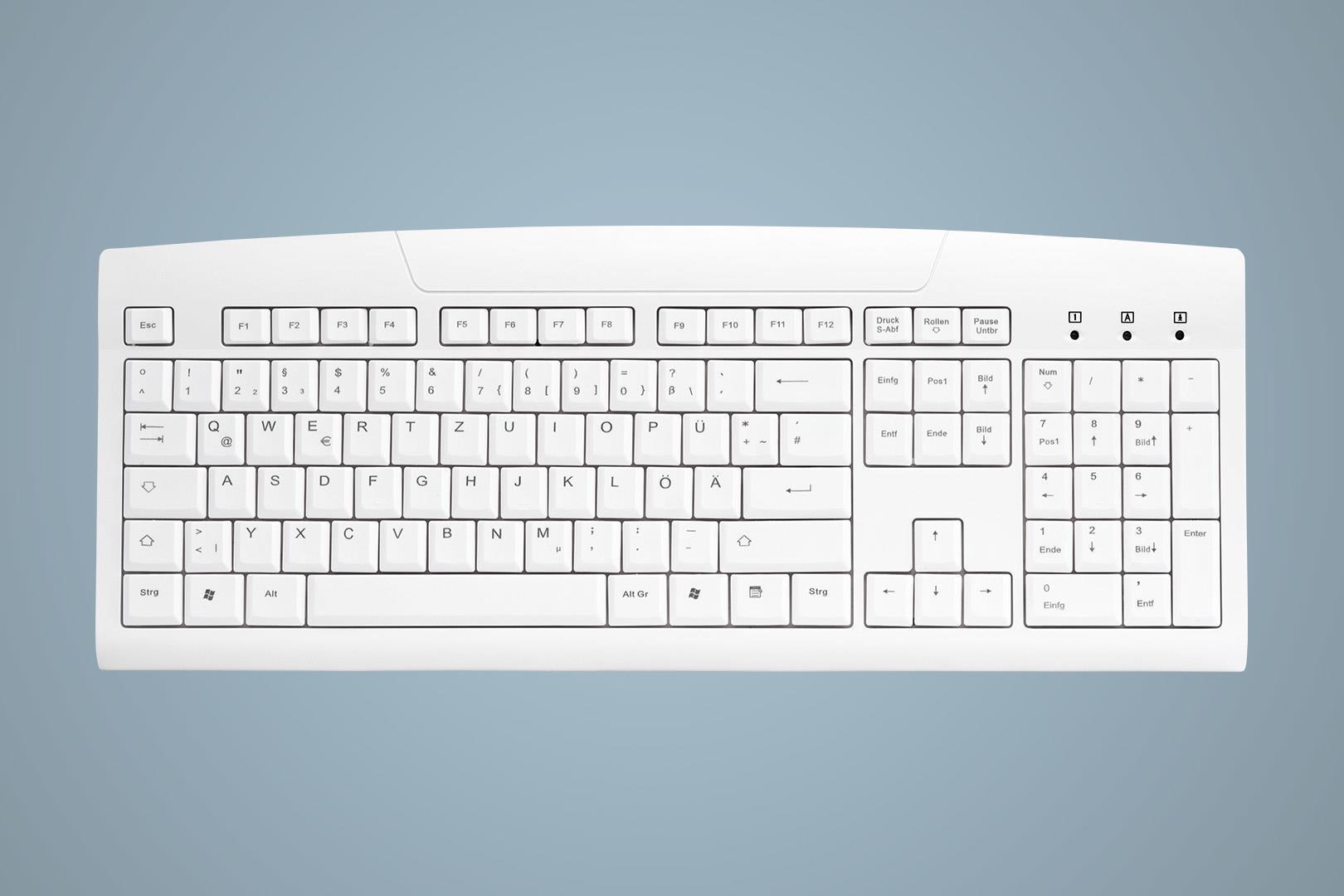 Active Key AK-8000-UV-W/GE Tastatur USB QWERTZ German White (AK-8000-UV-W/GE)