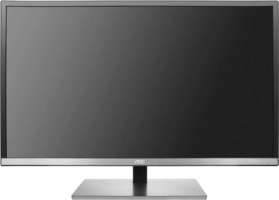 AOC Pro-line U3277FWQ - LED-Monitor - 80 cm (31.5) (31.5 sichtbar) - 3840 x 2160 - A-MVA - 350 cd/m² - 3000:1 - 4 ms - HDMI, MHL, DVI, DisplayPort, VGA - Lautsprecher - Schwarz/Silber