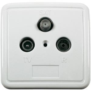 Smart Antennendose TV, UKW, SAT Aufputz Durchga...