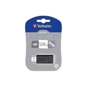 Speicherkarten, Speichermedien - Verbatim PinStripe USB Drive USB Flash Laufwerk 128 GB USB 2.0 Schwarz  - Onlineshop JACOB Elektronik