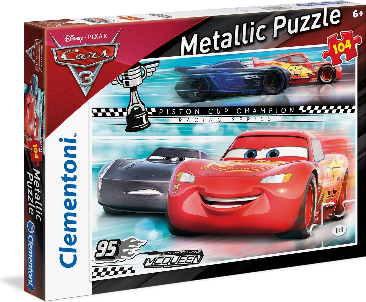 Clementoni 104 EL. Cars 3 Metallic (27074)