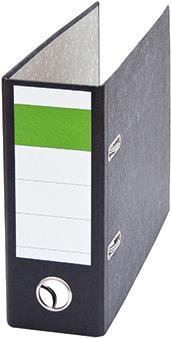Soennecken Ordner DIN A5 quer 75mm Recyclingpapier schwarz (120332500)