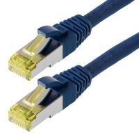 Herweck Helos - Patchkabel RJ-45 (M) 7,5m SFTP-Kabel (PIMF) CAT 6a Blau (118082)