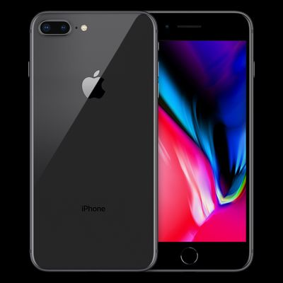 Apple iPhone 8 Plus, 64GB, spacegrau (MQ8L2ZD/A)